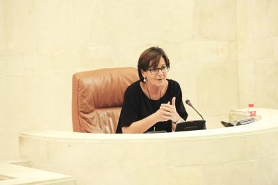 Dolores Gorostiaga, primera Presidenta del Parlamento de Cantabria.